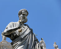 Saint Peter statue in the Vatican Stock Images