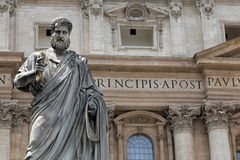 Saint Peter statue in Vatican Stock Photo