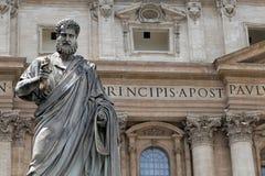 Saint Peter statue in Vatican Stock Photo