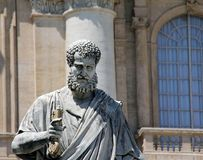 Saint Peter statue in the Vatican Royalty Free Stock Photography