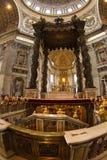 Saint Peter, Vatican, altar. Saint Peter, Vatican, papal altar and  tomb Royalty Free Stock Image