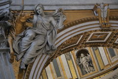Saint Peter in the Vatican royalty free stock photo