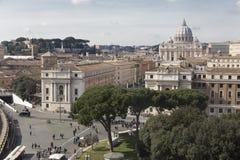 Saint Peter (Vatican) landscape Stock Images