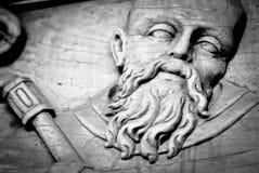 Saint Peter on wooden door Stock Photography