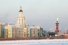Saint-Peterburg. Russia. Historical buildings across the Neva river Royalty Free Stock Photos