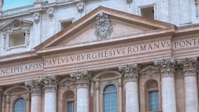 Saint Peters Basilica in the center of the Vatican in Rome. Videoclip stock video footage
