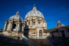 Saint Peters Basilica Dome up close Royalty Free Stock Photos
