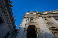 Saint Peters Basilica Dome up close Stock Image