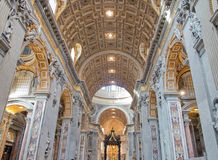 Saint Peters Basilica interior Stock Images
