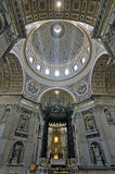 Saint Peters basilica, Vatican. Interior of St. Peters Basilica, Vatican City, Rome Stock Images