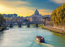 Saint Peters basilica view, Roma,  Italy. Royalty Free Stock Photos
