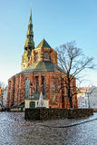 Saint Peters Cathedral in Riga Stock Photography