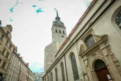 Saint Peters church in Munich Royalty Free Stock Photography