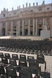 Saint Peters church and seats Royalty Free Stock Photo