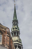 Saint Peters Church is a tall Lutheran church in Riga, Latvia Stock Images
