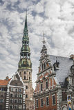 Saint Peters Church is a tall Lutheran church in Riga, Latvia Royalty Free Stock Photography