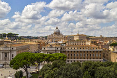 Saint Peters dome in Rome. Royalty Free Stock Photo