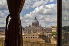 Saint Peters dome in Rome. Royalty Free Stock Image