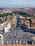 Saint Peters Square in Rome Stock Images