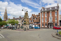 Saint Peters Square in Ruthin Wales Stock Photos