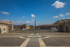 Saint Peters Square in Vatican City Royalty Free Stock Photo