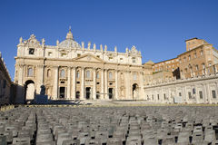 The Saint Peters Square in Vatican Royalty Free Stock Images