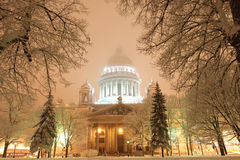 Saint-Petersbug Isaac Cathedral Stock Images