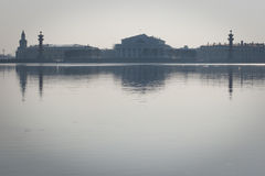 Saint-Petersburg. Saint-Petersburg at the evening. River Neva and Vasilevsy island royalty free stock photo