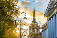 Free Saint Petersburg Admiralty Building At Sunset Royalty Free Stock Images - 104888509
