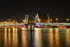 Saint Petersburg, Annunciation bridge Stock Image