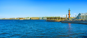 Saint Petersburg. APRIL 24, 2015: Neva Rivar is the main river in the city boasts main tourist destinations of , on April 24 in Royalty Free Stock Images