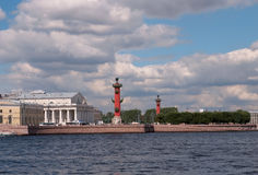 Saint Petersburg. Arrow of Vasilevsky Island. Royalty Free Stock Image