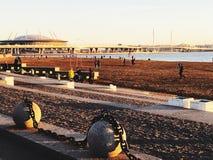 Saint-Petersburg beach and stadium royalty free stock images