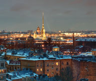 Saint-Petersburg building residential on  background of Peter an Royalty Free Stock Image