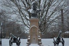 Saint Petersburg bust of Prince Romanov uncrowned Stock Photos