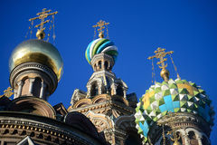 Saint Petersburg: Cathedral of our Savior on the Blood. In Russia Royalty Free Stock Photography