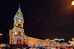 Saint-Petersburg Christmas street lights Stock Image