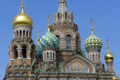 Saint-Petersburg. Church of the Savior on Blood Stock Images