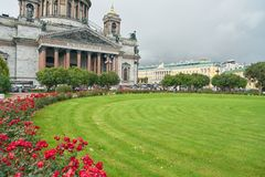Saint Petersburg. CIRCA OCTOBER, 2017: Isaakievskiy Sobor in  at daytime. It is the largest Russian Orthodox cathedral (sobor) in the city Stock Photography