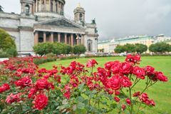 Saint Petersburg. CIRCA OCTOBER, 2017: Isaakievskiy Sobor in  at daytime. It is the largest Russian Orthodox cathedral (sobor) in the city Stock Photos
