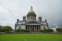 Saint Petersburg. CIRCA OCTOBER, 2017: Isaakievskiy Sobor in  at daytime. It is the largest Russian Orthodox cathedral (sobor) in the city Royalty Free Stock Image