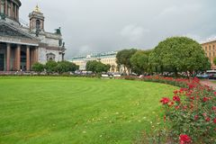 Saint Petersburg. CIRCA OCTOBER, 2017: Isaakievskiy Sobor in  at daytime. It is the largest Russian Orthodox cathedral (sobor) in the city Stock Photo