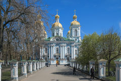 Saint Petersburg, city attractions. St. Petersburg, Nicholas-Epiphany Naval Cathedral Stock Images