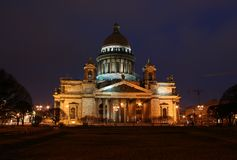 Saint Petersburg city, nightlife Stock Photography