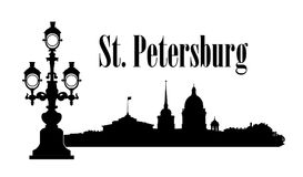 Saint-Petersburg city, Russia. St. Isaac`s cathedral skyline. Russian travel background. Saint-Petersburg city, Russia. St. Isaac`s cathedral skyline with Royalty Free Stock Photo
