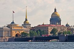 Saint Petersburg city skyline Royalty Free Stock Images