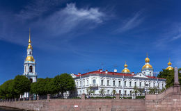 Saint Petersburg cityscape with clouds stock photos