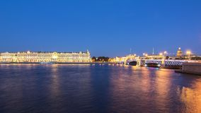 Saint Petersburg cityscape at night, Russia Royalty Free Stock Photo