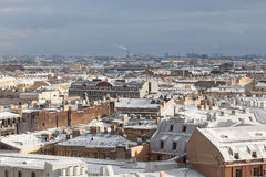 Saint-Petersburg from the colonnade of St. Isaac's Cathedral Royalty Free Stock Photos