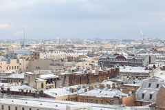 Saint-Petersburg from the colonnade of St. Isaac's Cathedral Royalty Free Stock Photo